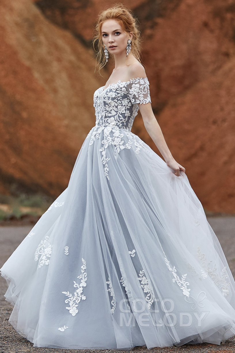 girl wearing a gothic wedding dress by Coco Melody