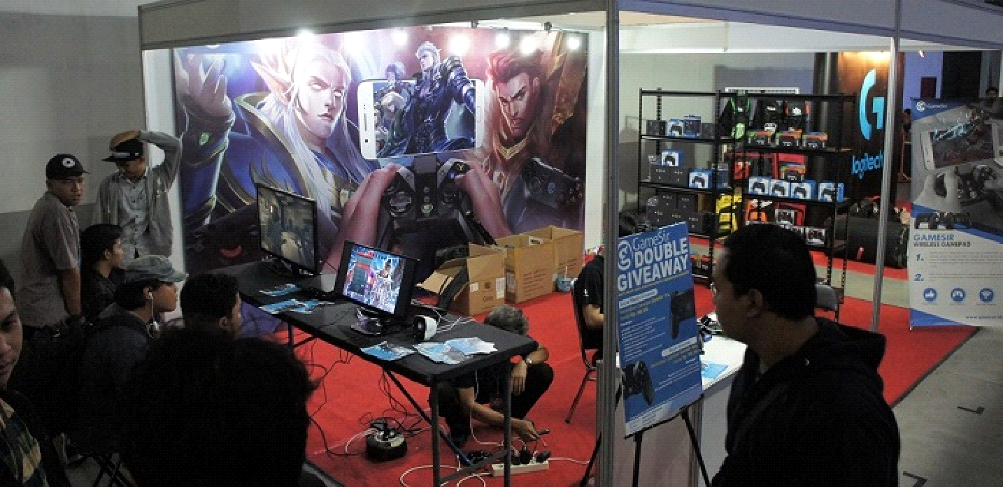 Beragam Aktivitas Seru Ramaikan Booth GameSir di World Of Gaming Djogja Battle Royale!