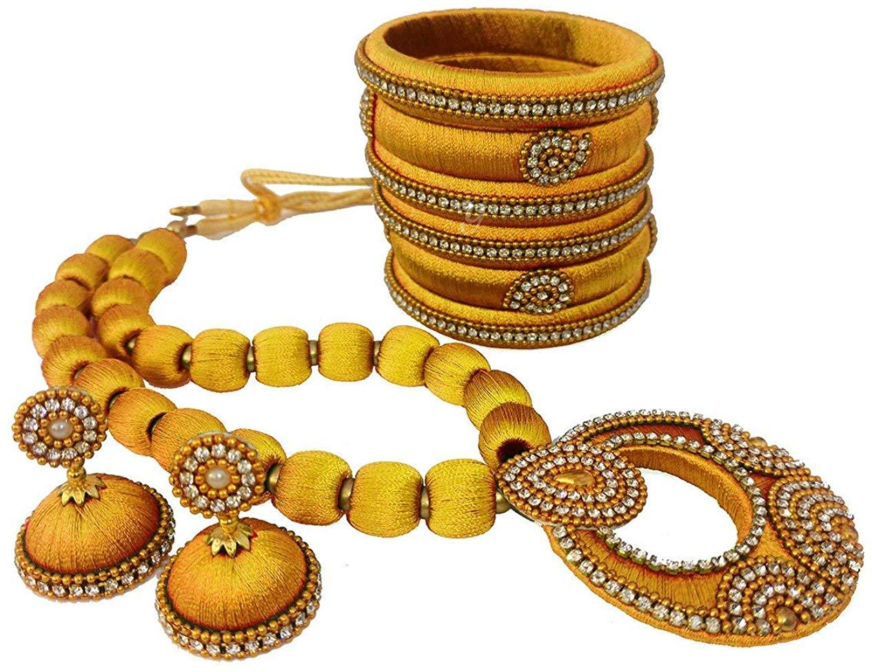 Youth Gold Silk Thread Jewelery Set