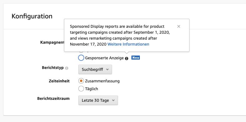 Sponsored Display Reports