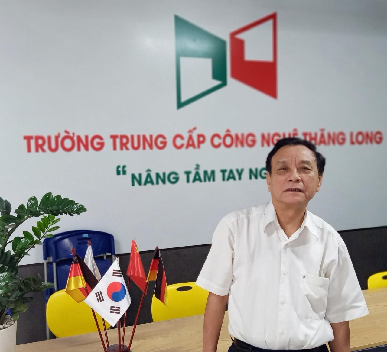 PGS.TS Nhà giáo nhân dân Lê Đình Trung - Chủ tịch hội đồng Trường Trung cấp công nghệ Thăng Long