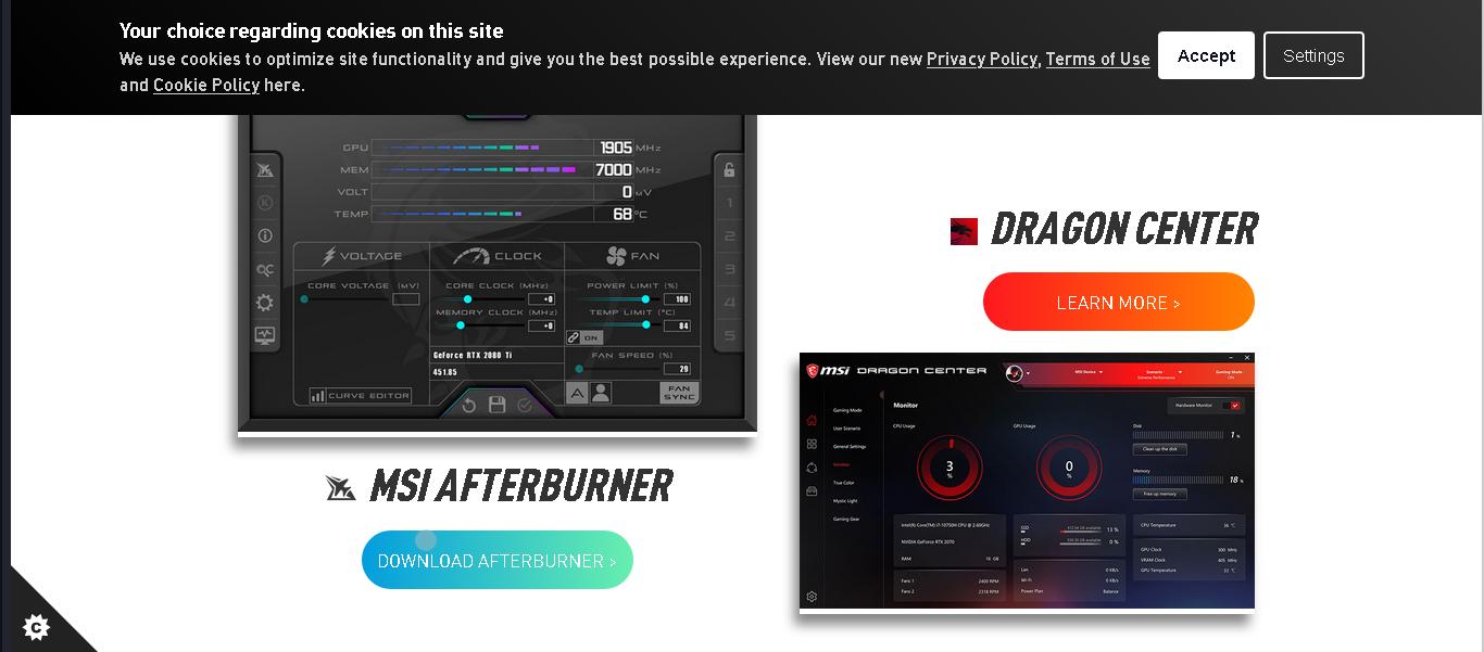 Download MSI Afterburner