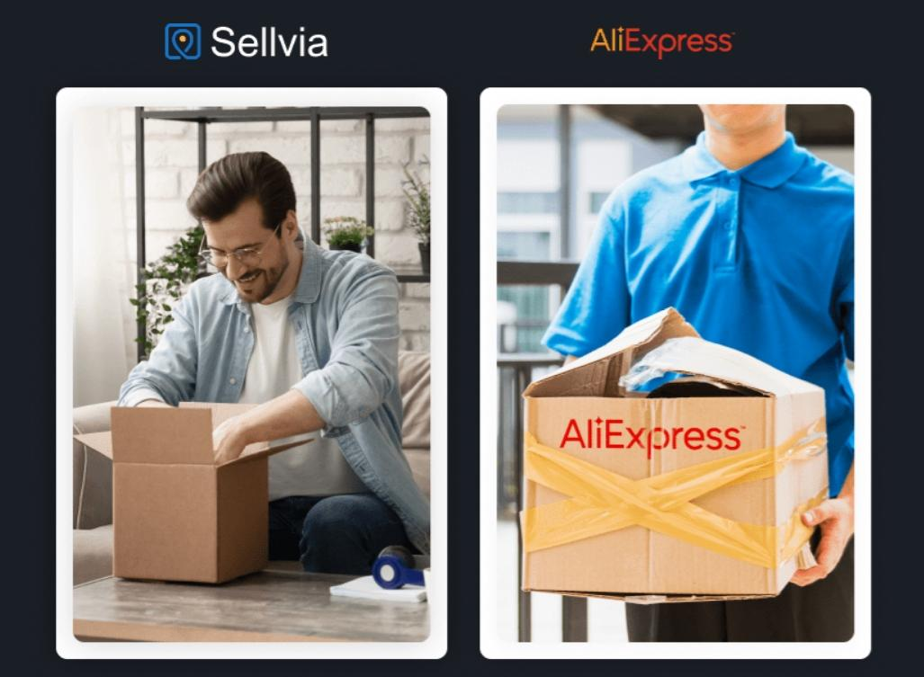 Comparison between Sellvia and AliExpress
