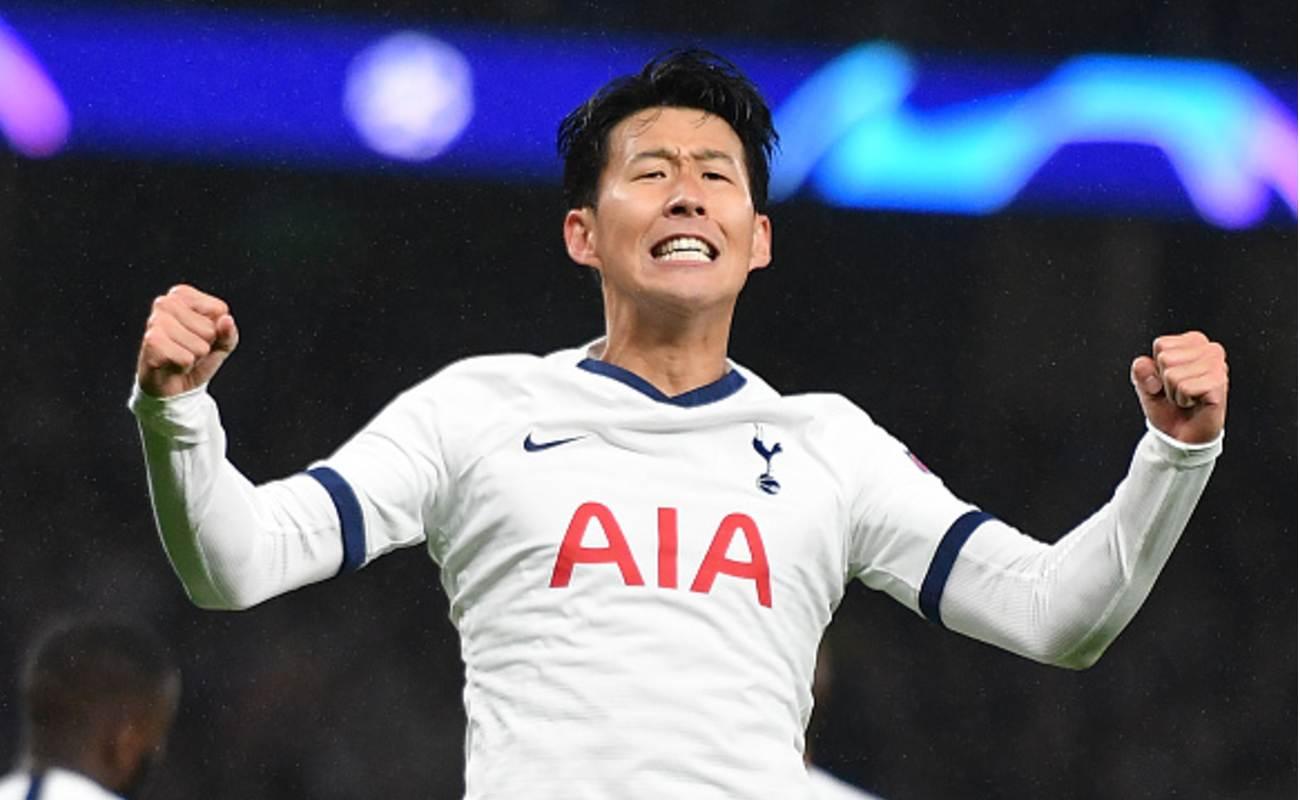 Son Heung Min of Tottenham Celebrates