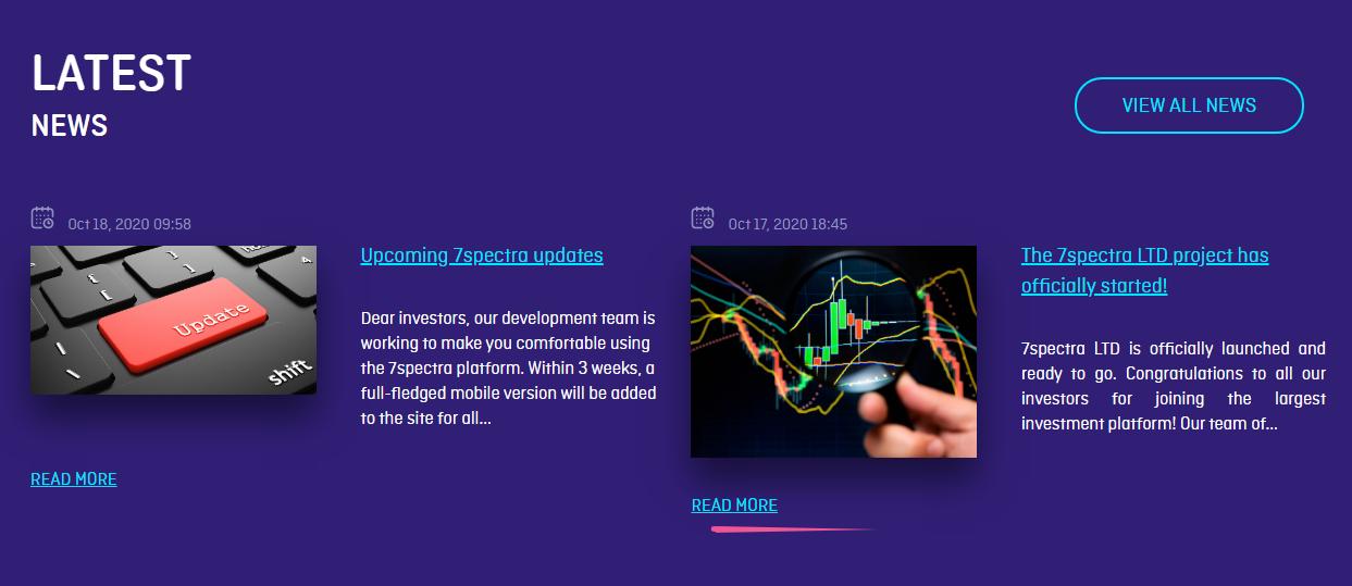 Обзор инвестиционной платформы 7Spectra: тарифные планы и отзывы вкладчиков