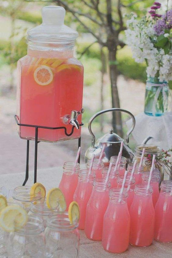 mason jar pink lemonade