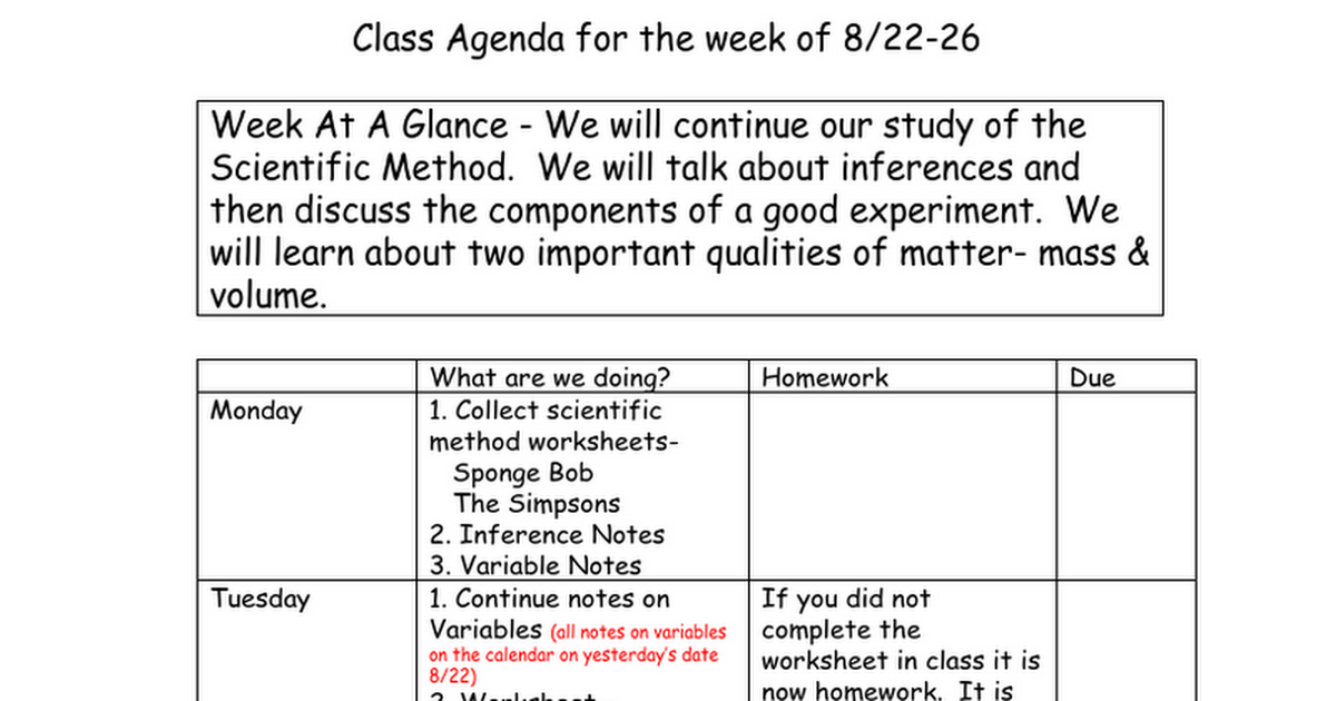 2016 week 3 Google Docs – Simpsons Scientific Method Worksheet