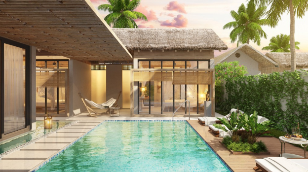 Kem Beach Resort với thiết kế rất ấn tượng và hấp dẫn