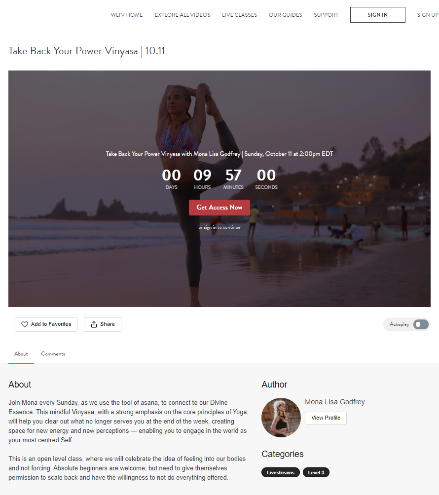 Take Back Your Power Vinyasa