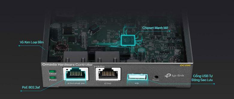Omada Cloud Controller TP-Link OC200   Thiết kế gọn gàng hiện đại