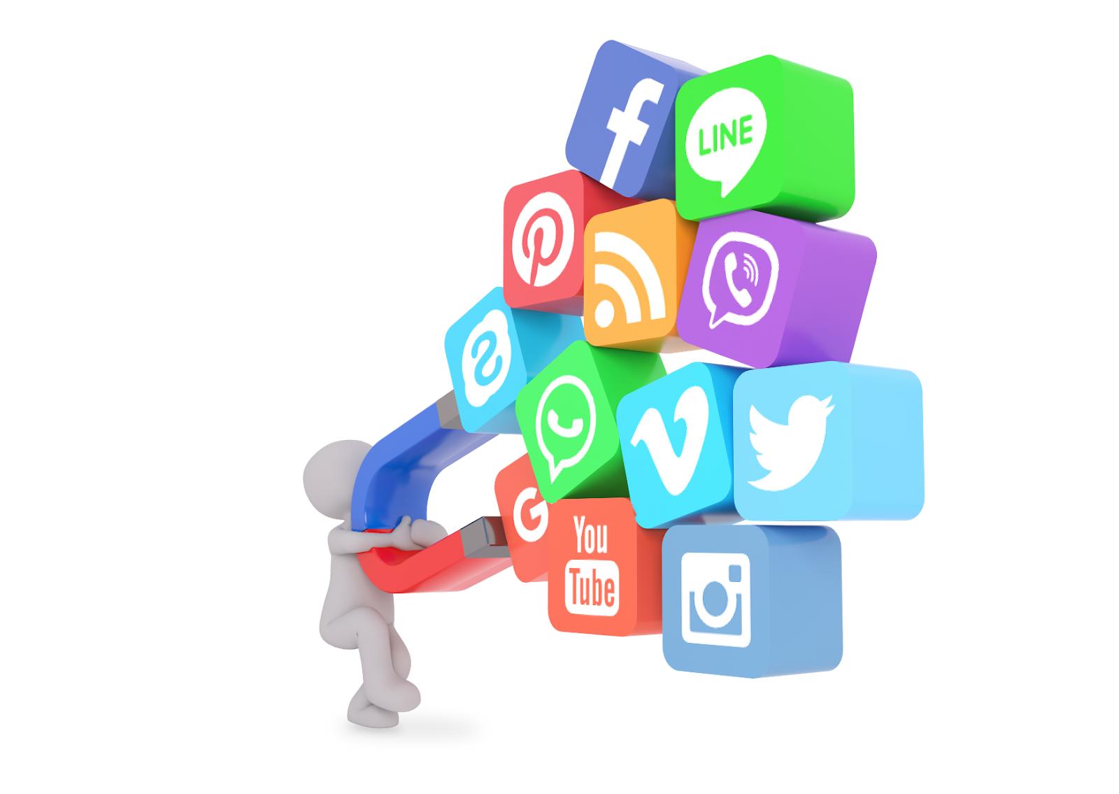social customer service magnet