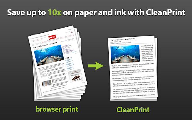 CleanPrint  chrome extension