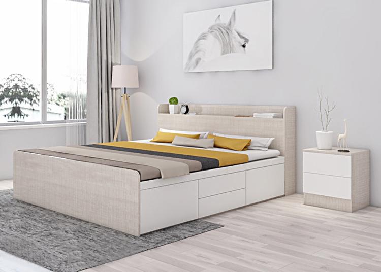 Với phòng ngủ lớn hơn 15 mét vuông thì bạn nên cân nhắc chọn giường với kích thước 1m8