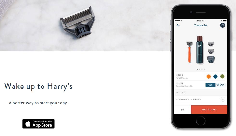 Harry's Grooming app