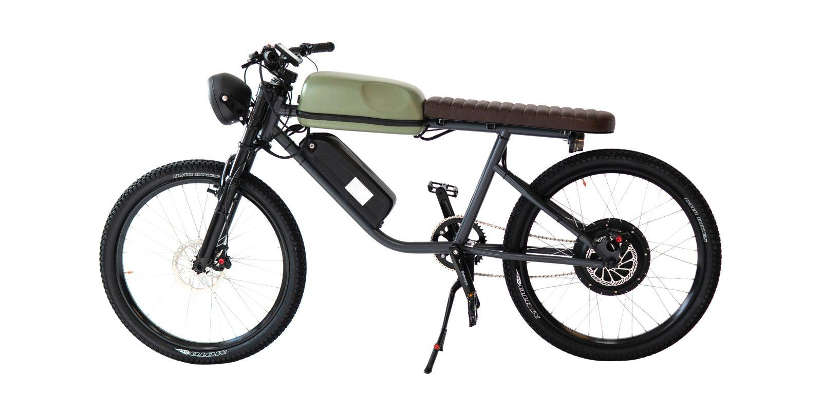 This high speed 1,000W e-bike has the look and feel of a vintage motorcycle  - Electrek