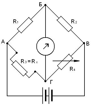 Магазины резисторов R1, R2,