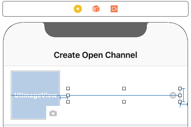 This text field displays the title of the open channel and the user can clear it by clicking on the X button