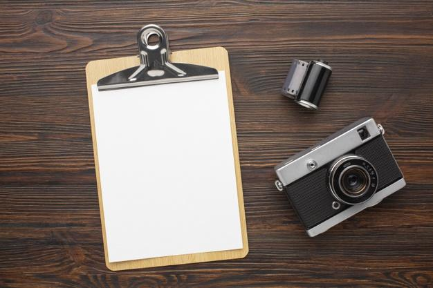 Photographer workspace with equipment Free Photo