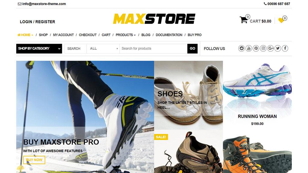 tema max store para loja online