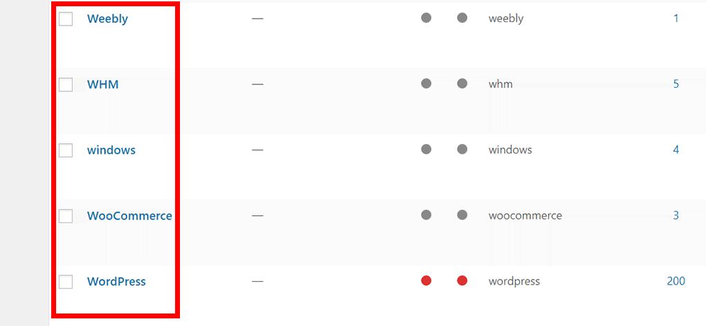 lista de categorias de postagem no wordpress