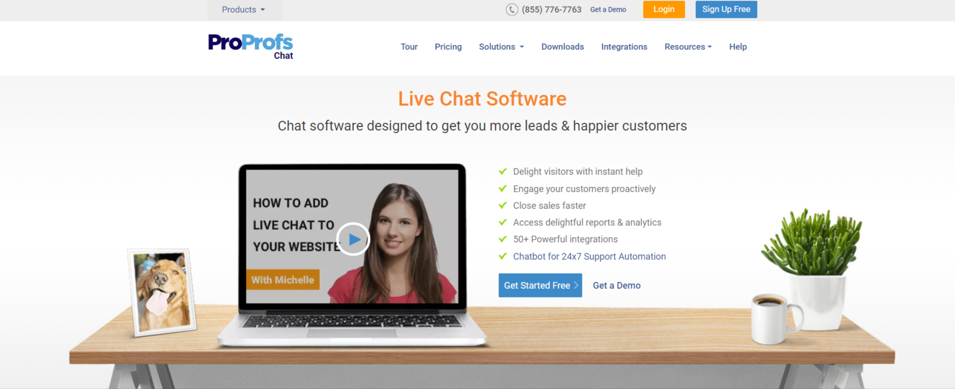 ProProfs chat-live chat software