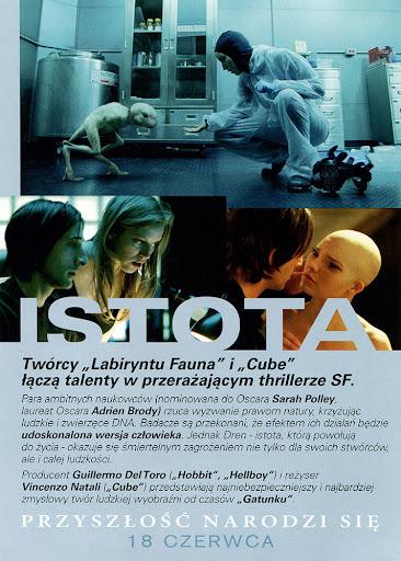 Tył ulotki filmu 'Istota'