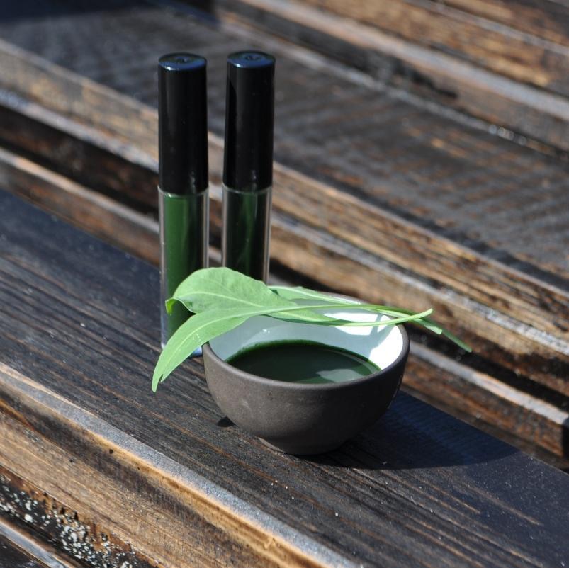 Сок из листьев вайды красильной