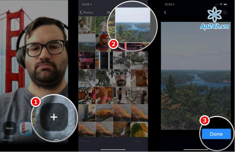 Tùy chọn hình nền Zoom trên điện thoại, máy tính bảng