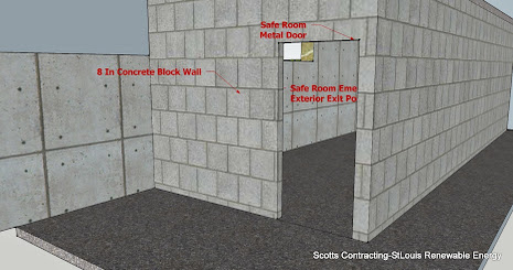 Safe Room Basement Entrance-Fire Rated Steel Door