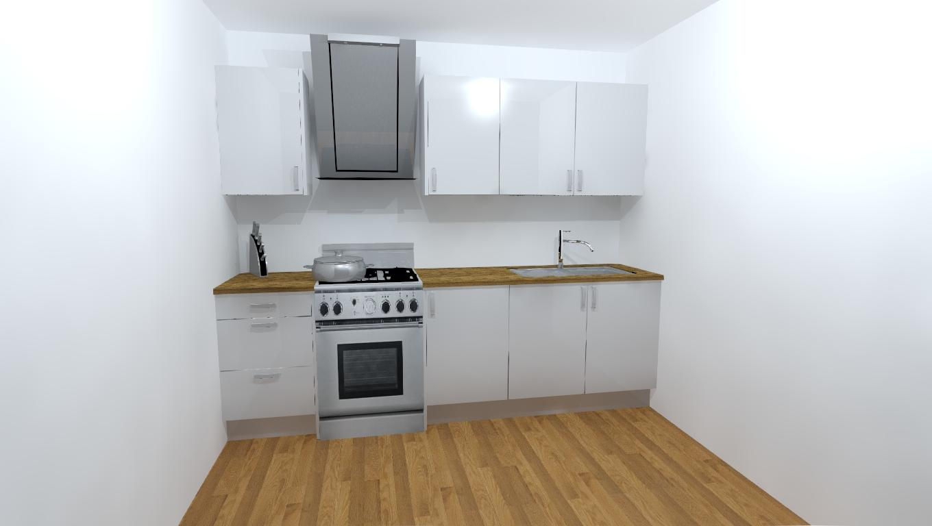 Vivo Gloss White Complete Kitchen Cabinets, Package OFFER