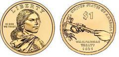 1 dollar (Sacagawea Dollar - Native American Dollar - Wampanoag Treaty 1621)