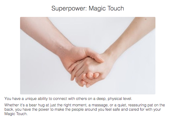 Superpower: magic touch quiz cover