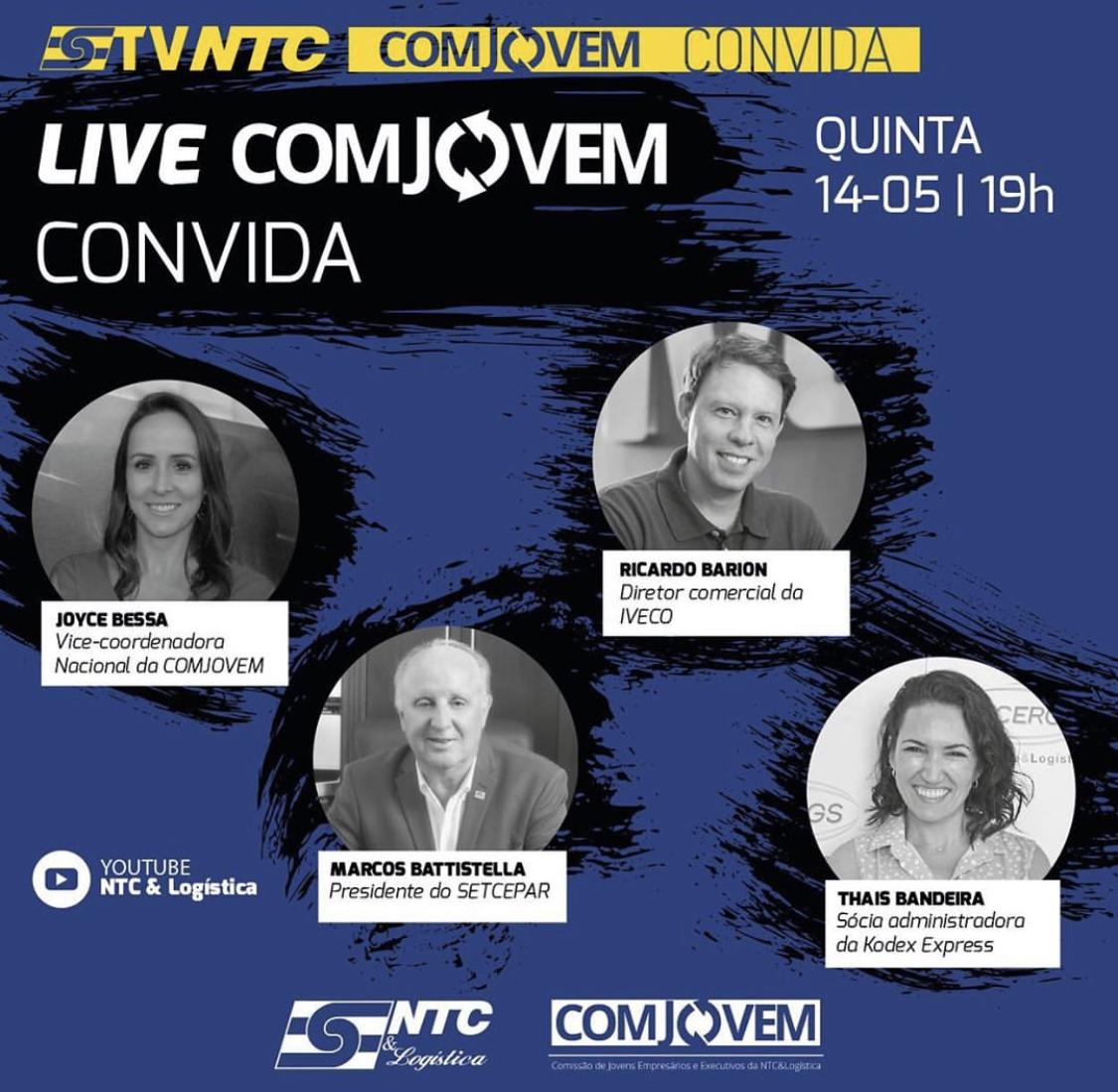 Quinta edição da Live 'COMJOVEM Convida' acontece hoje na TV NTC