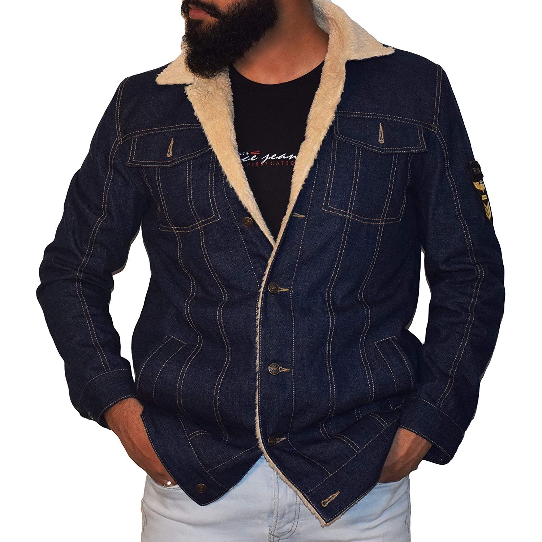 Denim Fur Jacket For Men