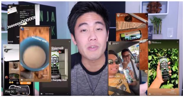 Ryan Higa hiển thị clip mọi người sử dụng sản phẩm của mình trên YouTube
