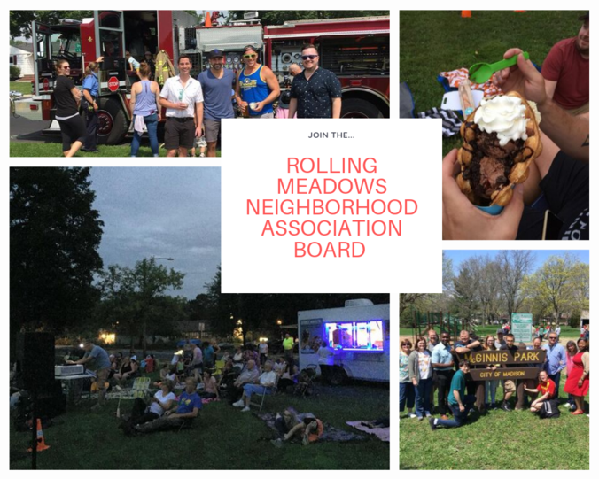 Neighborhood association events including movie in the park and ice cream social