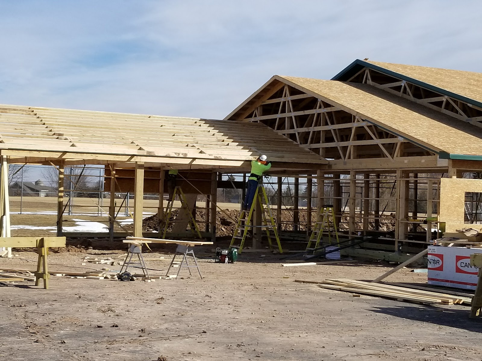 New Maintenance Building Construction Progress