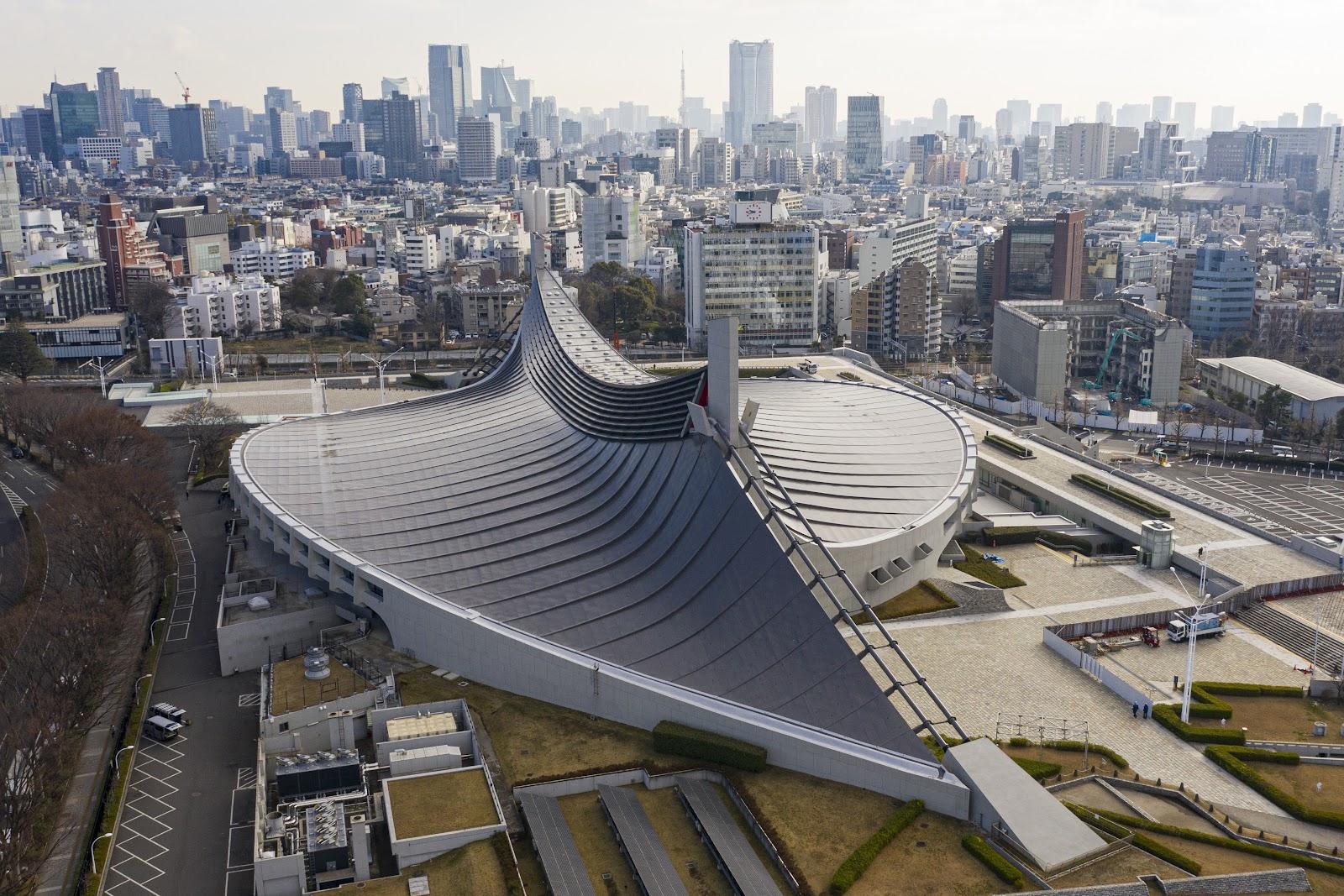 Estádio Nacional Yoyogi construído para os jogos de 1964. (Wikimedia Commons/Reprodução)