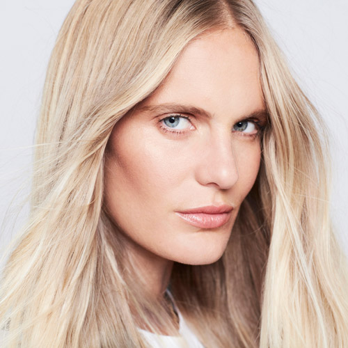 woman with natural blonde hair