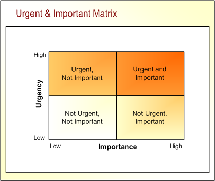 Image result for important and urgent matrix