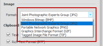Able2Extract image output formats