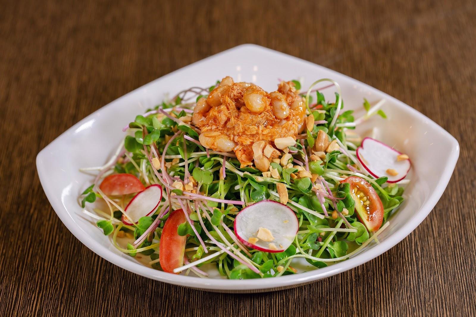 salad giau dinh duong, thanh mat