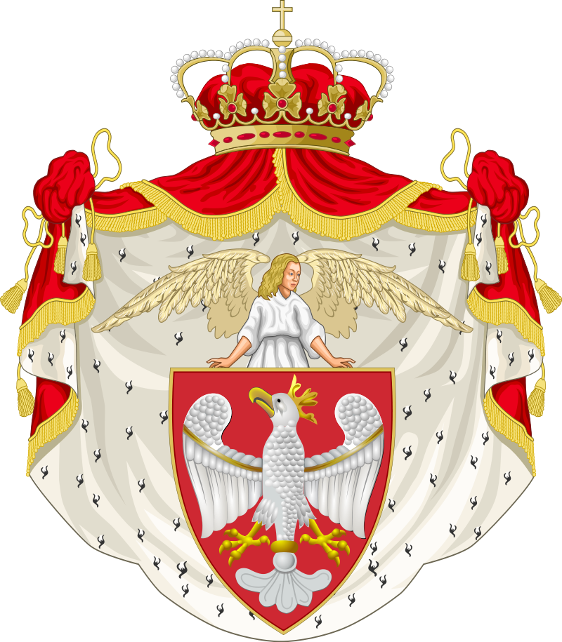 https://upload.wikimedia.org/wikipedia/commons/thumb/1/11/Reconstruction_of_the_Grand_Coat_of_Arms_of_the_Crown_of_the_Polish_Kingdom.svg/800px-Reconstruction_of_the_Grand_Coat_of_Arms_of_the_Crown_of_the_Polish_Kingdom.svg.png