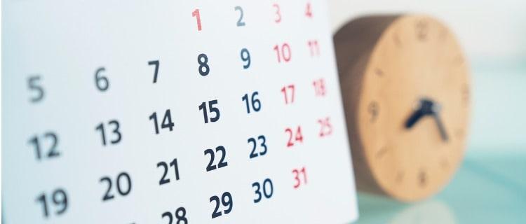 政策金融公庫融資カレンダーと時計