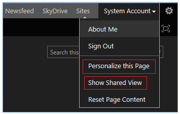 Personalize the page