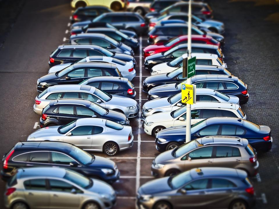 Autos, Aparcamiento, Parque, Tráfico, Vehículos