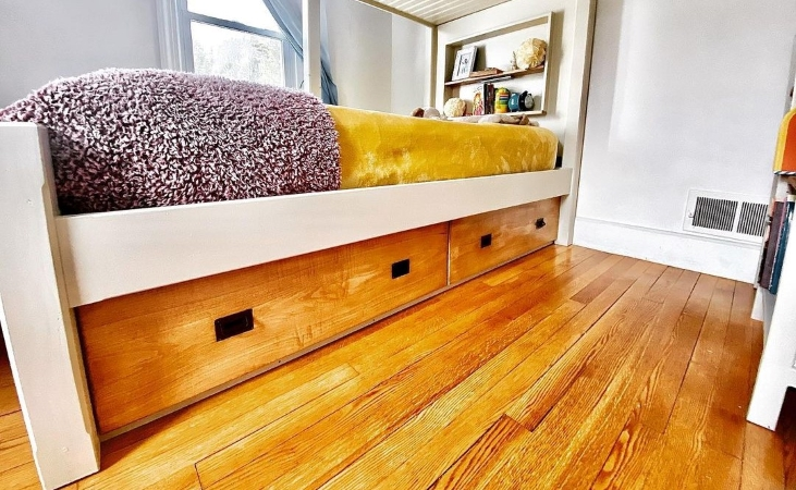 space saving storage might include storing things under your bed