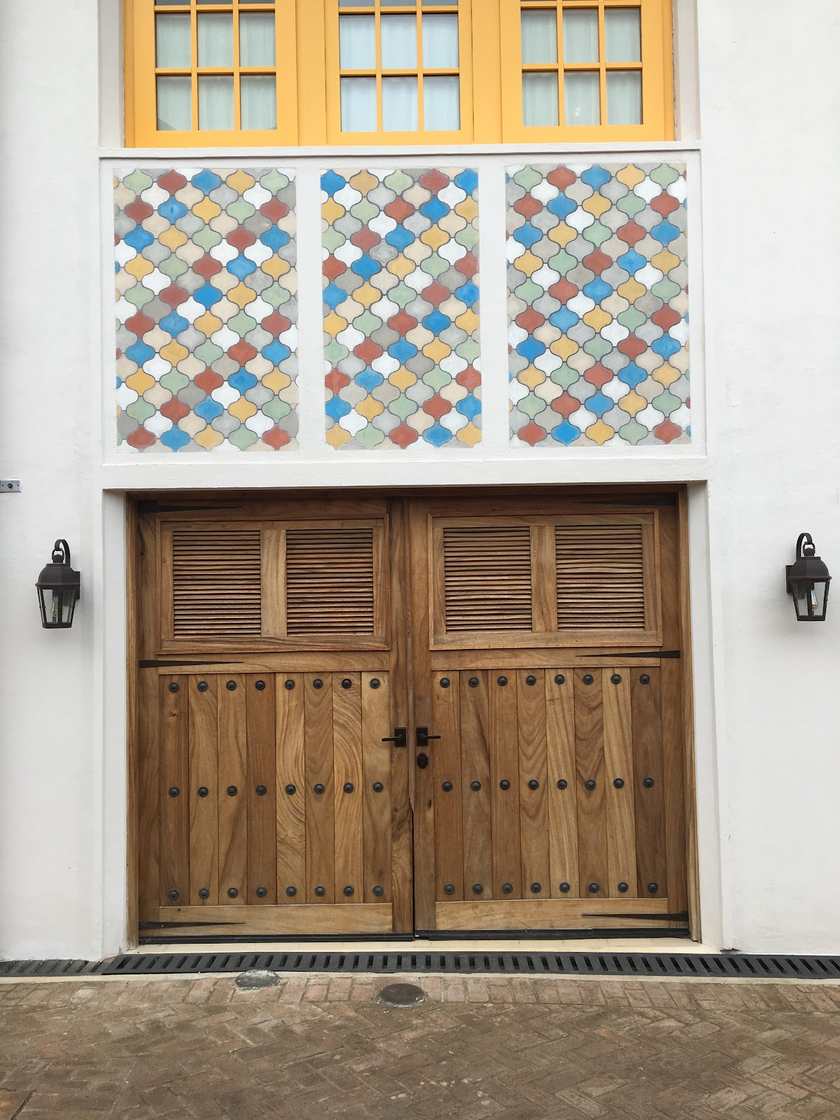 Copper & Stone Service Door