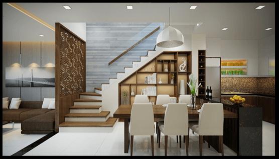Thiết kế phòng bếp nhà ống 3 tầng 4x12m