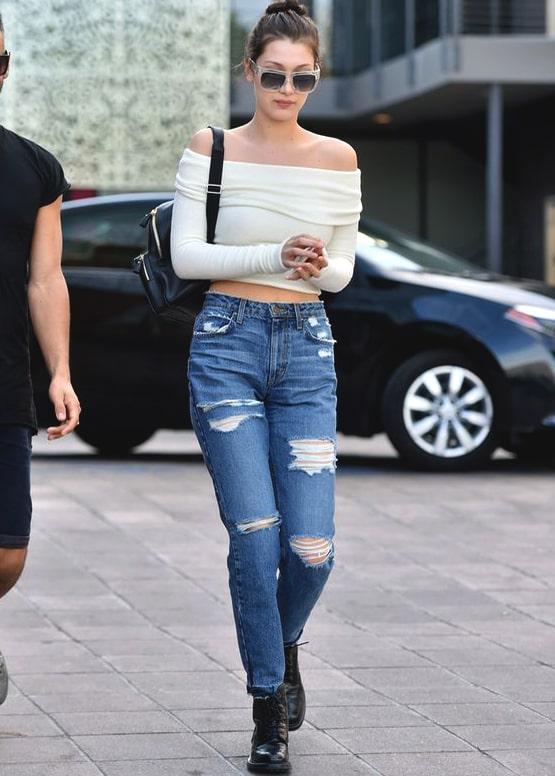 how to wear off shoulder tops